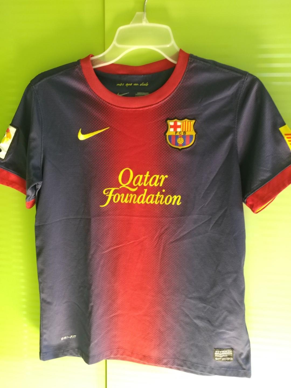 new product 4b2c6 ea5f3 Authentic FCB Qatar Foundation shirt for kids, Sports ...