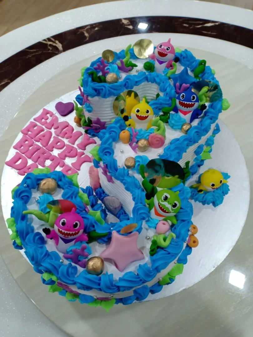 Tremendous Baby Shark Birthday Cake Food Drinks Baked Goods On Carousell Funny Birthday Cards Online Fluifree Goldxyz