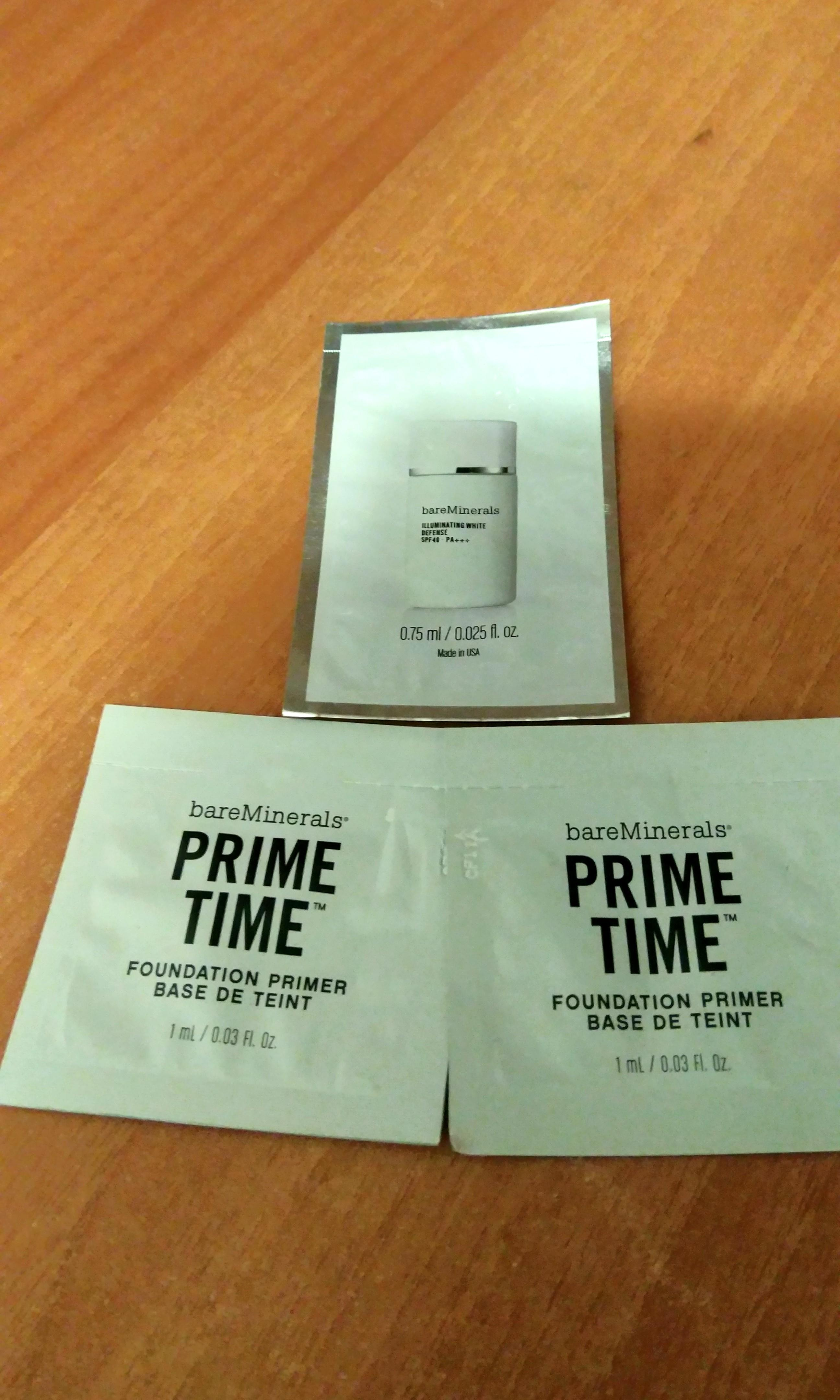 Bare minerals prime time + sunblock sample
