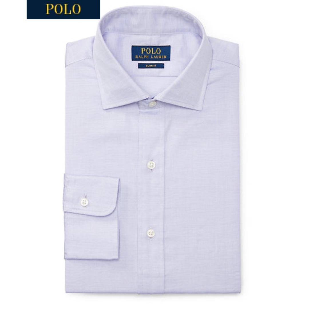 BNIB Ralph Lauren Slim Fit Cotton Dobby Formal Work Shirt