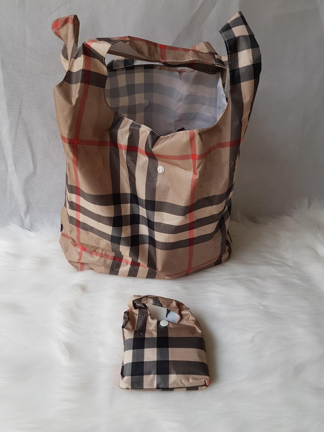 Burberry Reusable Waterproof stylish grocery shopping bag