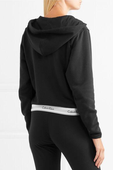 Clavin Klein Underwear Cotton-blend jersey hoodie