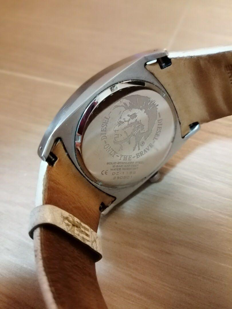 Diesel Classic White Leather Watch