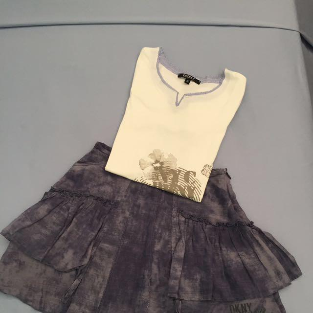 DKNY Girls Skirt Set