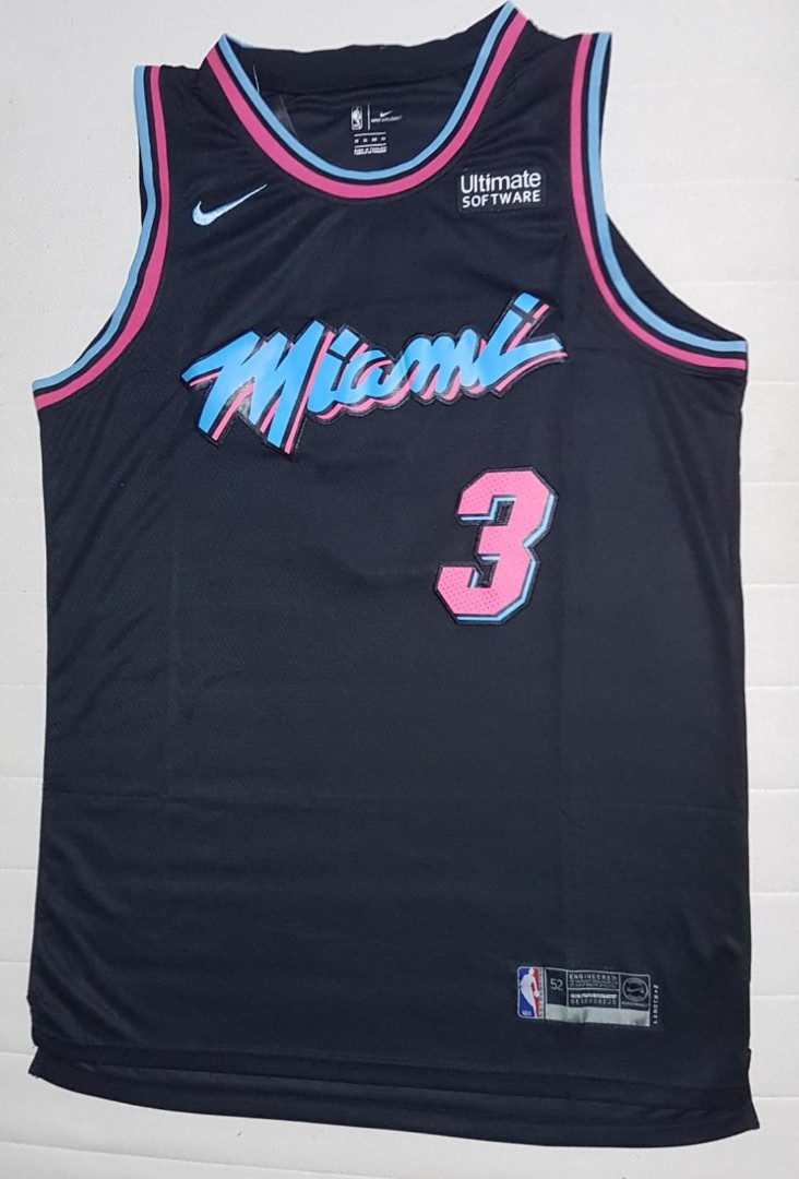 hot sale online d57cd 5a215 Dwayne Wade Replica Jersey (XL), Sports, Sports Apparel on ...