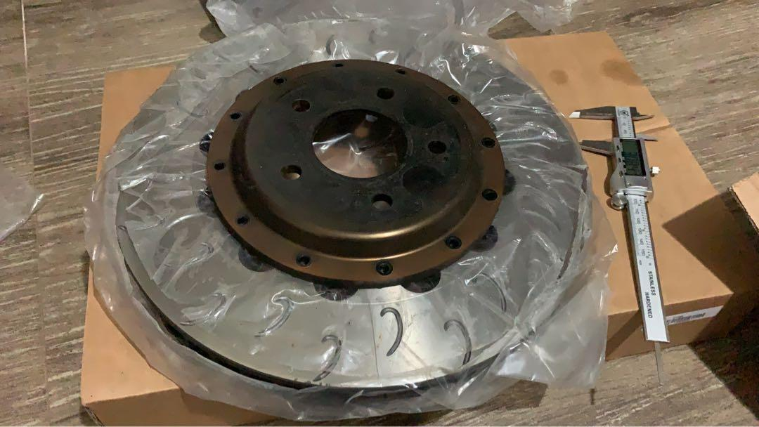 Evo x front 330mm 2pcs rotor with Bell and AP Racing Cp5200