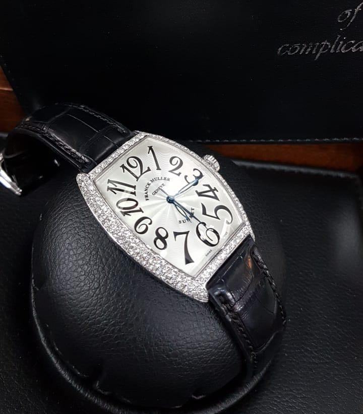 FM Sunset 6850 SC White Gold Diamond Setting (34x47mm) Automatic ( Sertifikat+Box)2005