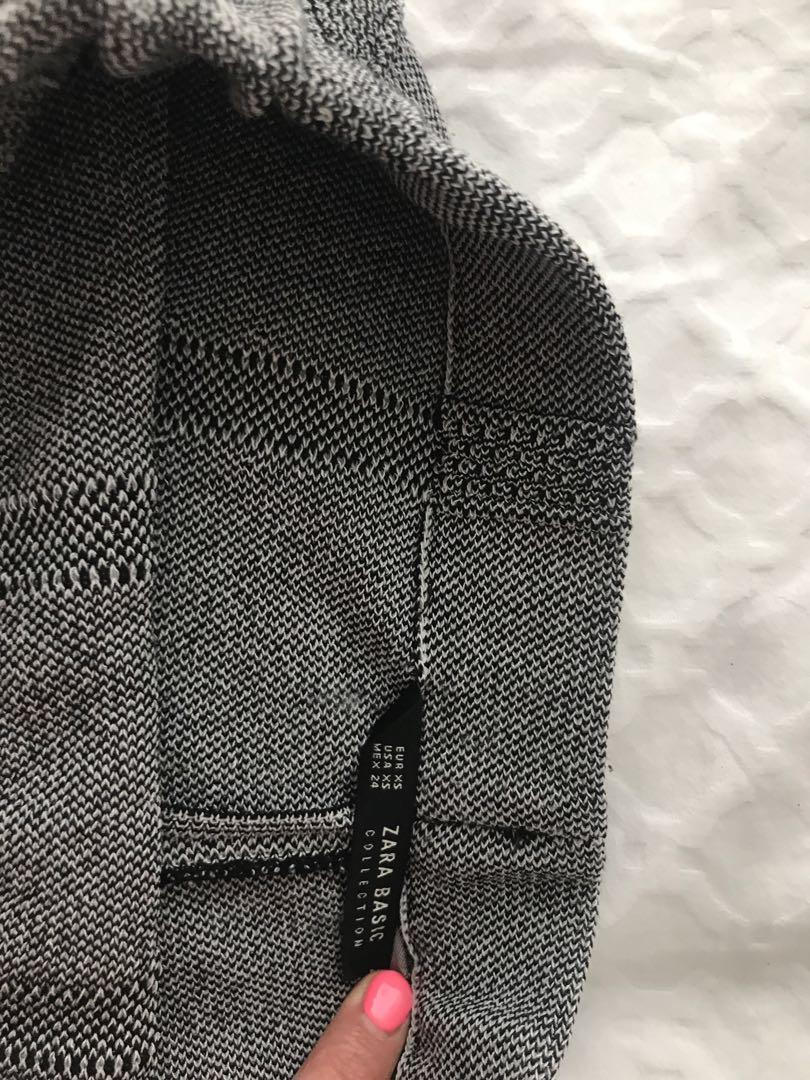 Grey zara skirt