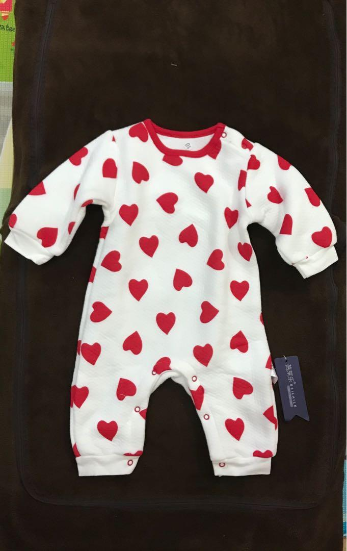 Hearty heart sleepsuit
