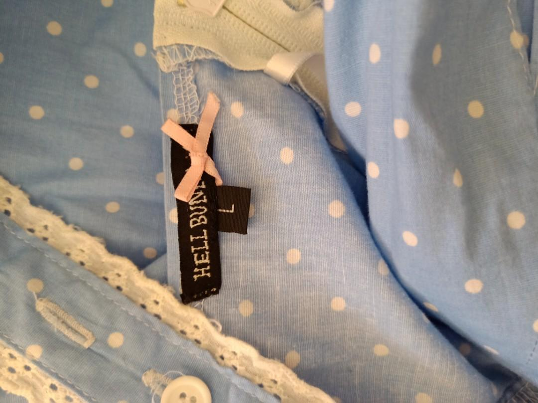Hell Bunny 'Orlando' dress in light blue. Size L. Great condition.
