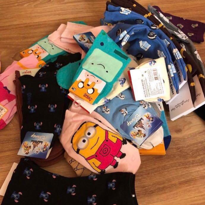 Korean character socks