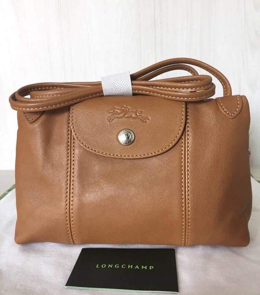 571a78c2be781 Longchamp Le Pliage Cuir