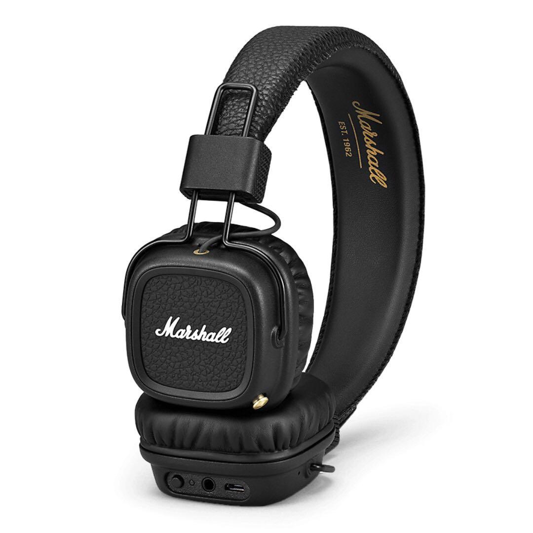 99f19a958b7 Marshall Major II Bluetooth On-Ear Headphones, Black, Electronics ...