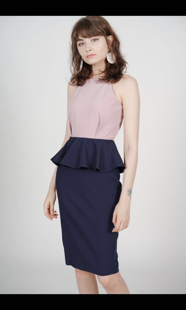 d01a1990162 MDS Peplum dress, Women's Fashion, Clothes, Dresses & Skirts on ...