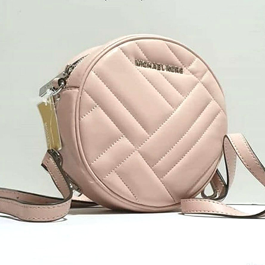 40d90cb2ce2f MK Michael Kors Vivianne Canteen Crossbody Leather Bag - Pastel Pink ...