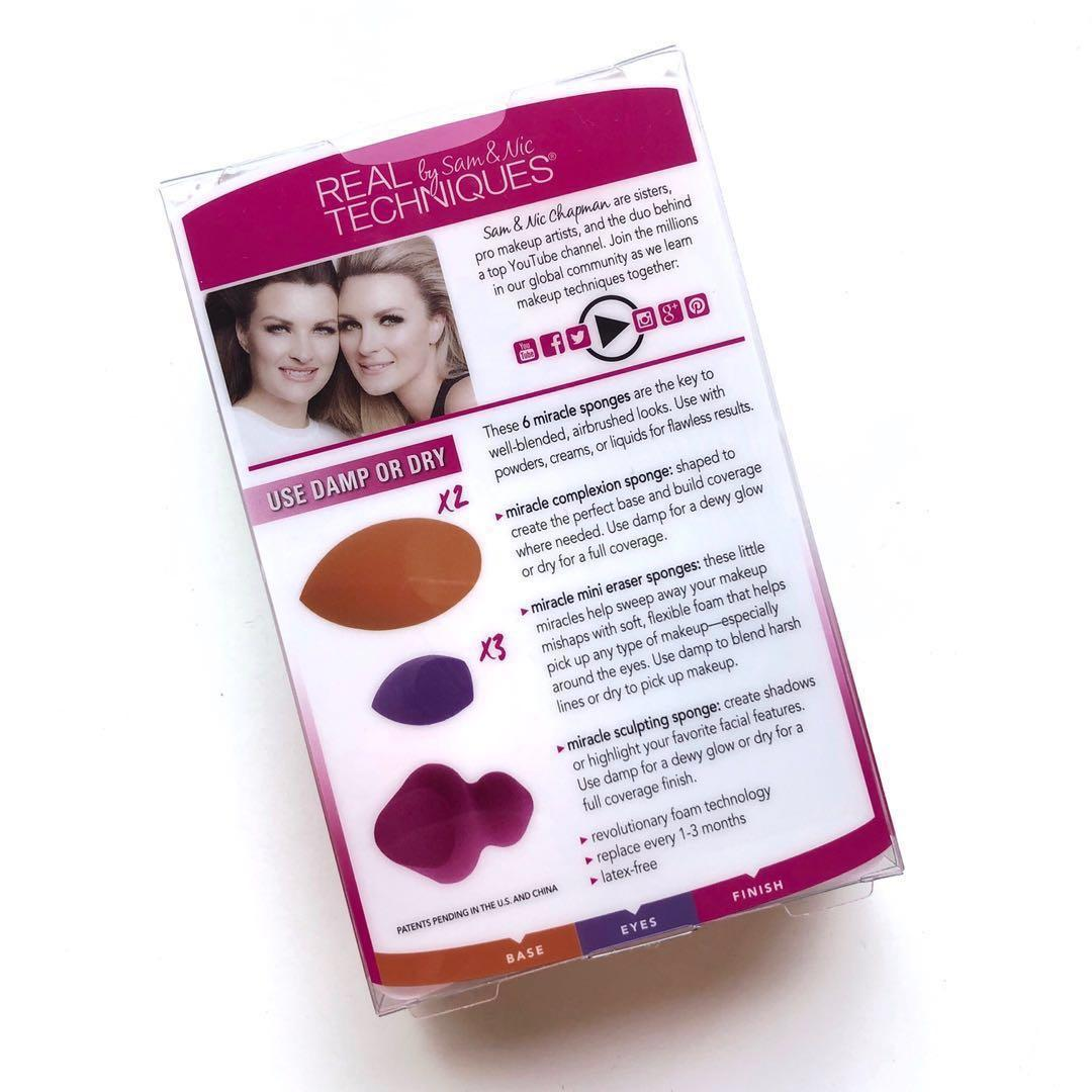 NEW - REAL TECHNIQUES - Miracle Sponges 6 Pack