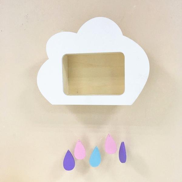 New wooden cloud shelf for children's room