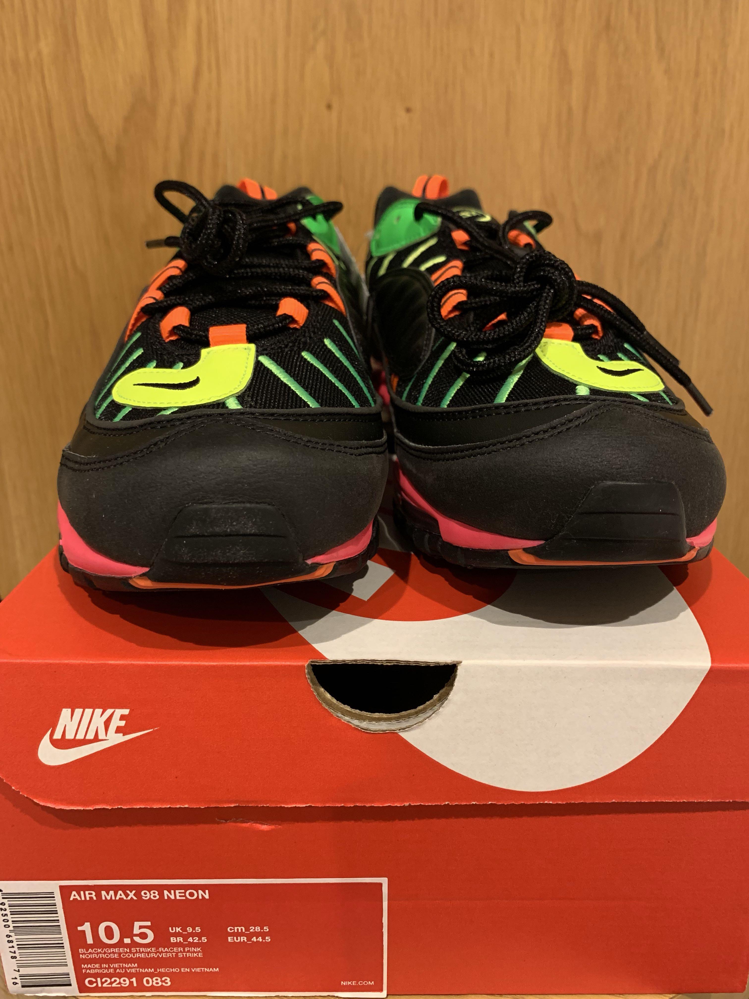 24a45d2c32 Nike air max 98 neon, Men's Fashion, Men's Footwear on Carousell