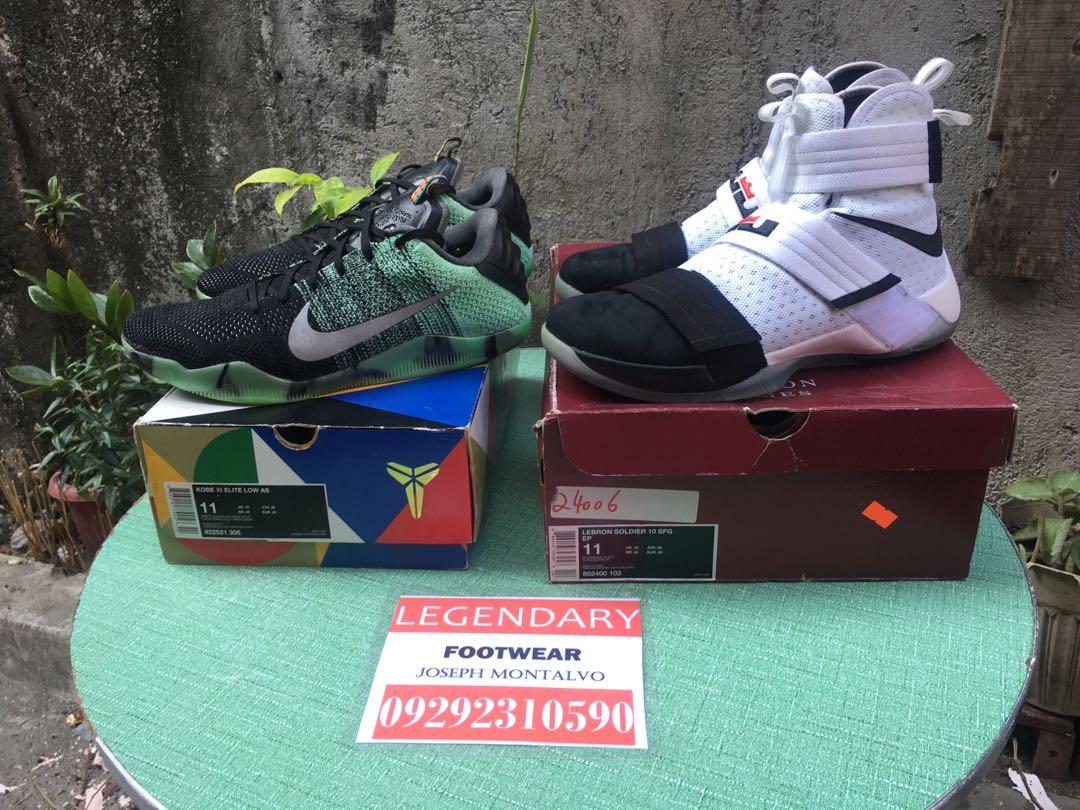 1f8e645d38df Nike Kobe 11 ASG and Lebron Soldier 10 Black Toe not Jordan Adidas ...