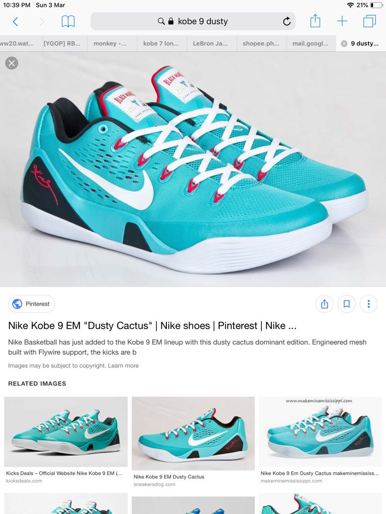 f7def56fe4ea Nike Kobe 9 dusty cactus US8.5