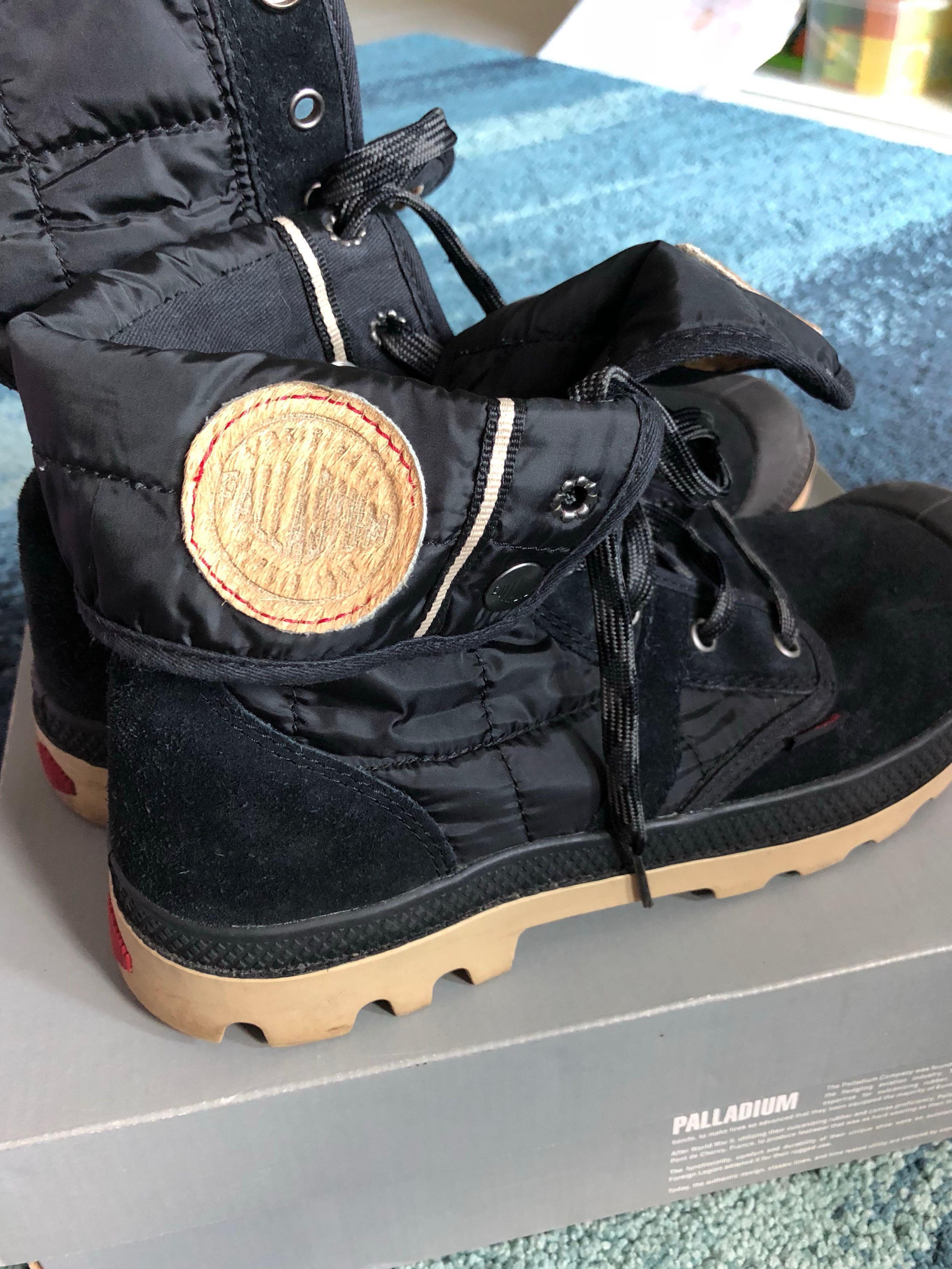 Palladium Suede Black Men Boots , Men's