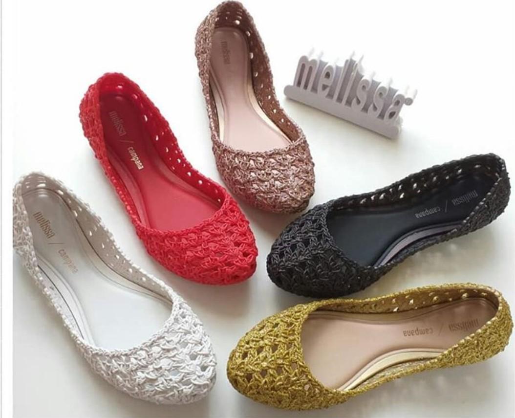 Po Authentic Melissa Campana Crochet Womens Fashion Shoes