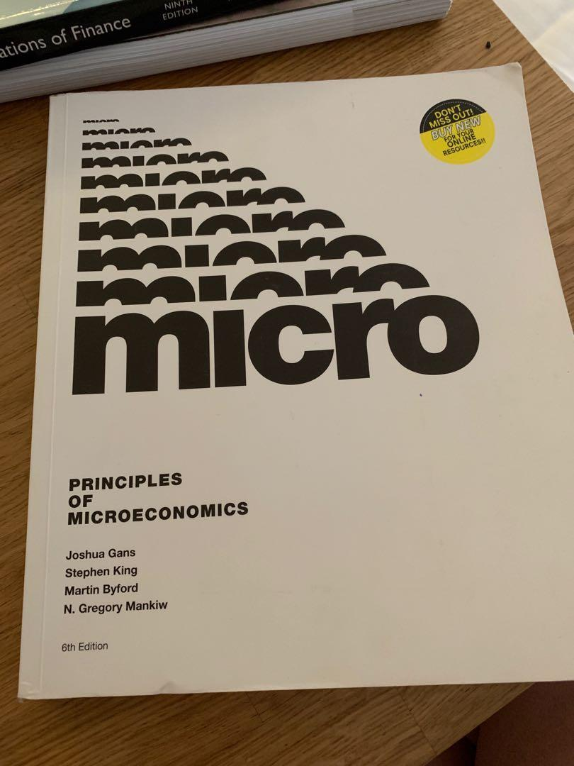 Principles of Microeconomics Joshua Gans et al. 6th Edition