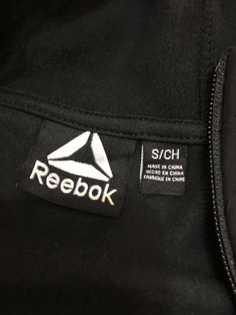Reebok 男裝運動外套 黑色,S size