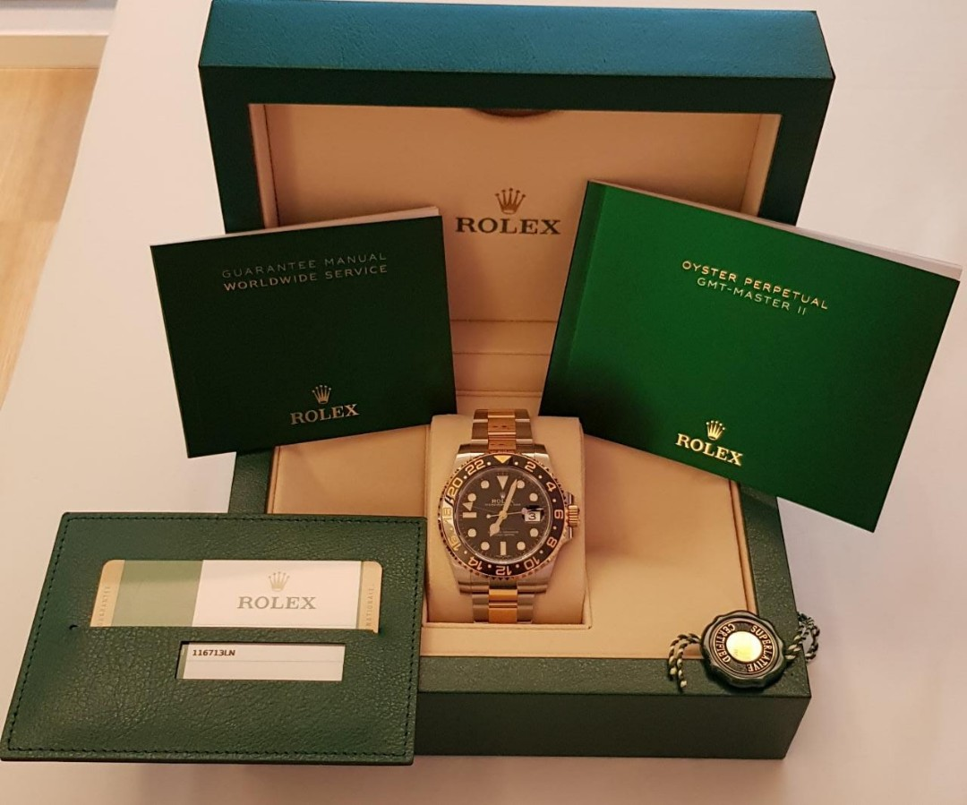 5ce9feb7c4a6cb Rolex GMT-Master II Oystersteel   yellow gold two tone 2 tone half ...