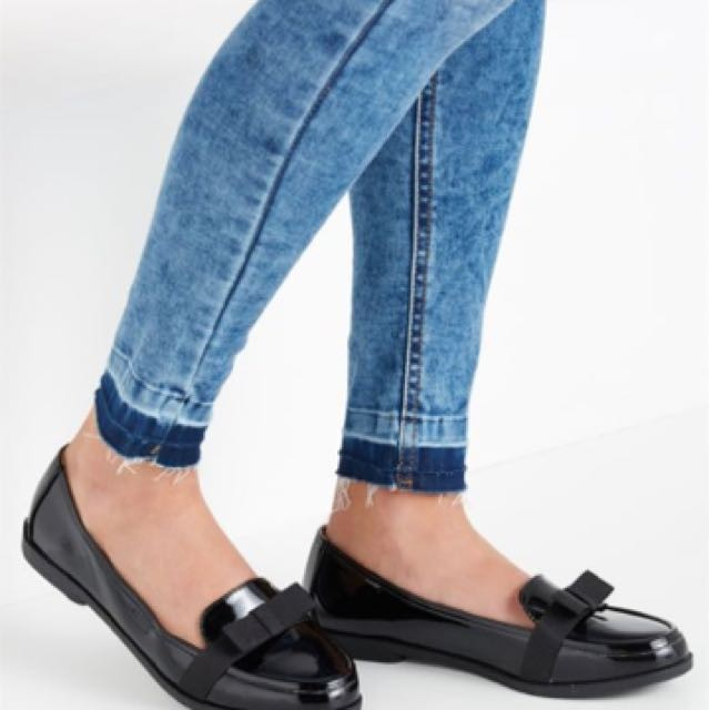 b00f9213dc8 Rubi Bonnie bow loafer flats in black