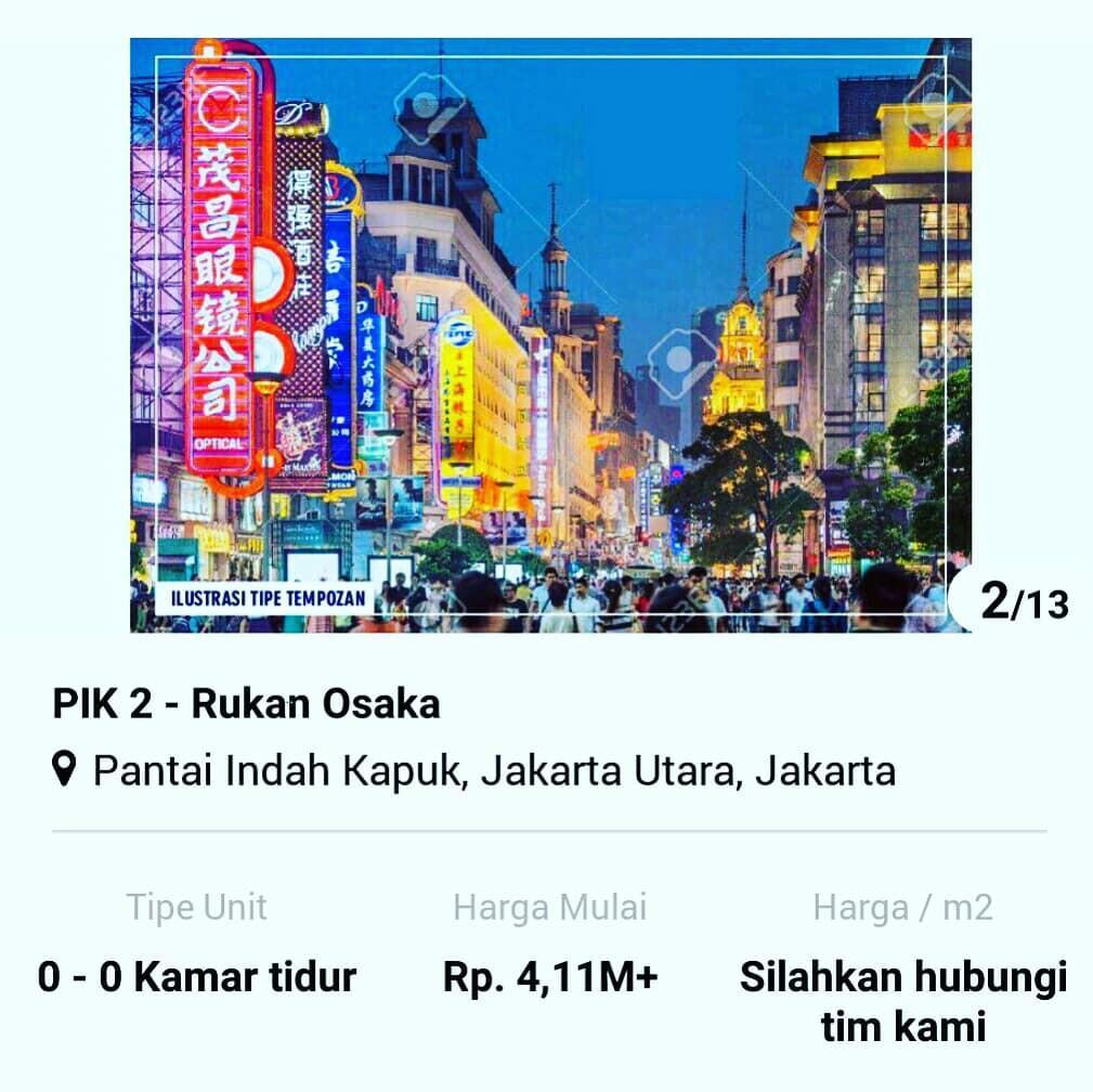 Rukan Osaka PIK2 jakarta utara