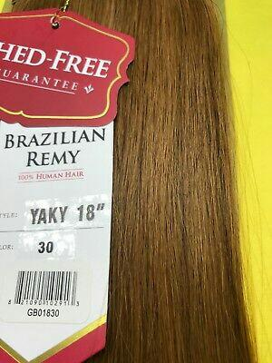 "SAGA BRAZILIAN REMY 18""- #30_100% HUMAN HAIR_WEAVE STRAIGHT EXTENSION"