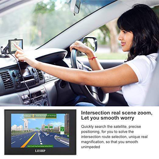 Sat Nav, LESHP 5 Inch Car GPS Navigation with UK Ireland