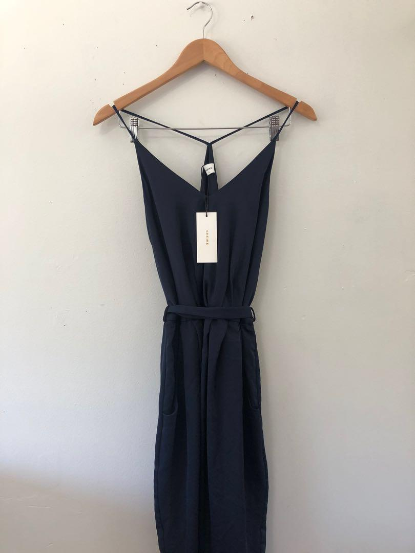 Sheike Navy strap dress