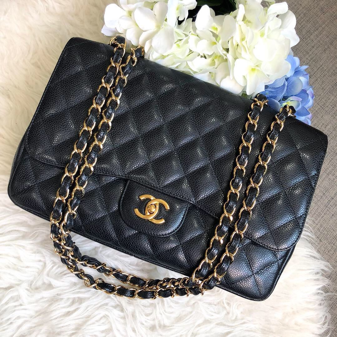 ab1e670cd17c ❌SOLD!❌ Superb Deal! Rare and Popular Chanel Jumbo SF in Black ...