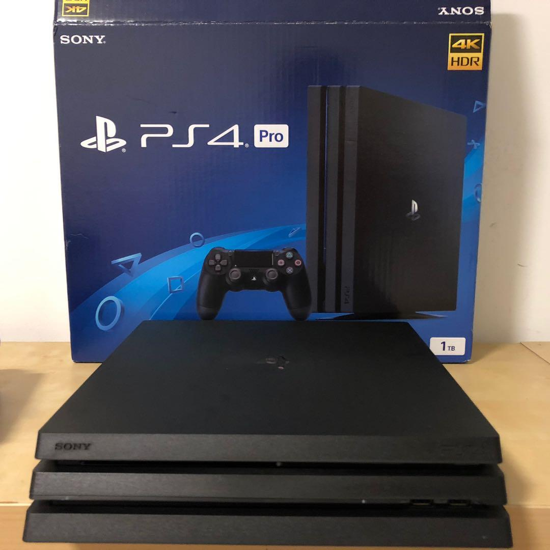 SONY Playstation 4 Pro bundle with games and driving wheel