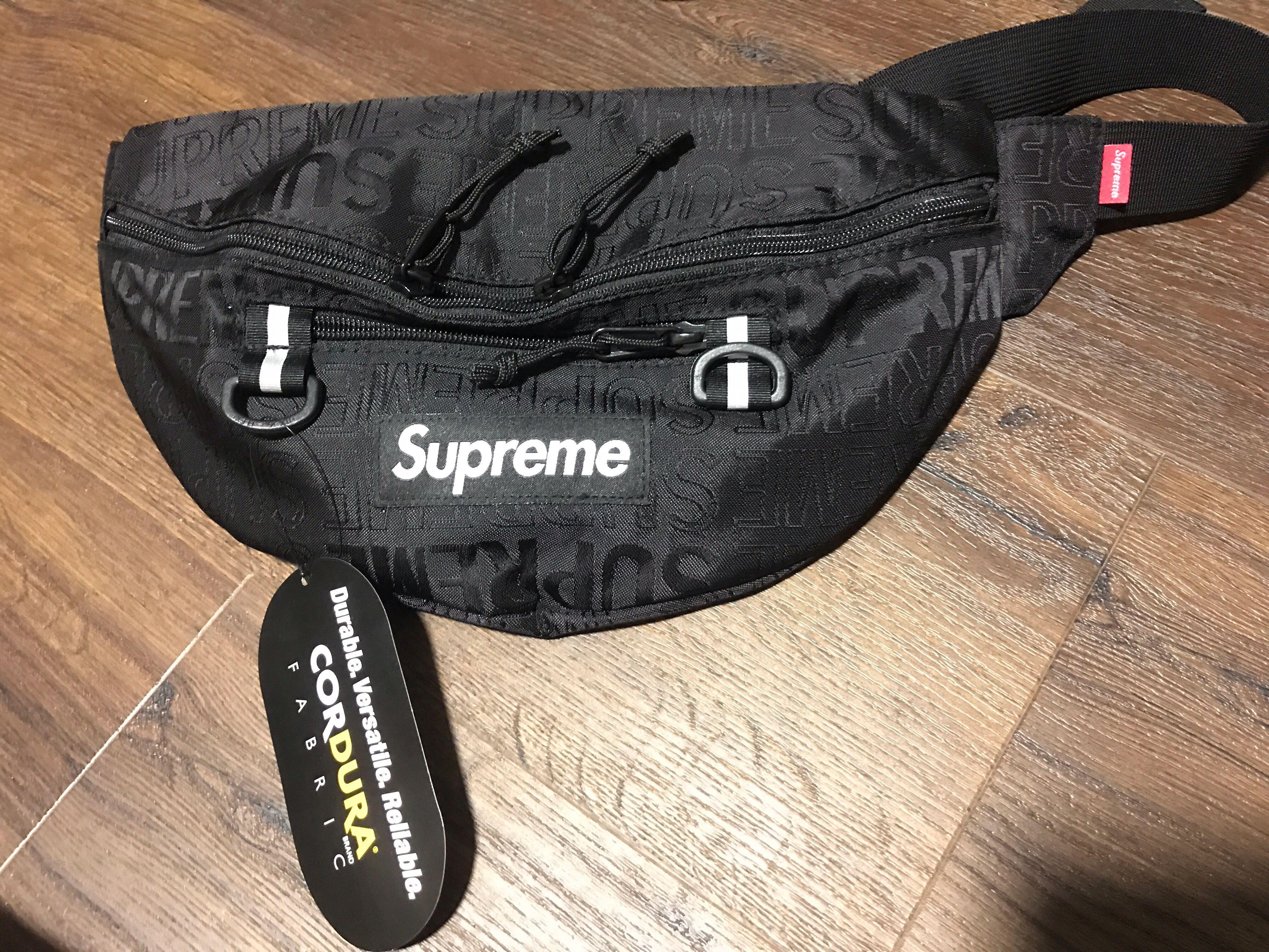 Supreme Waist Bag SS19 Black, Men's Fashion, Bags & Wallets