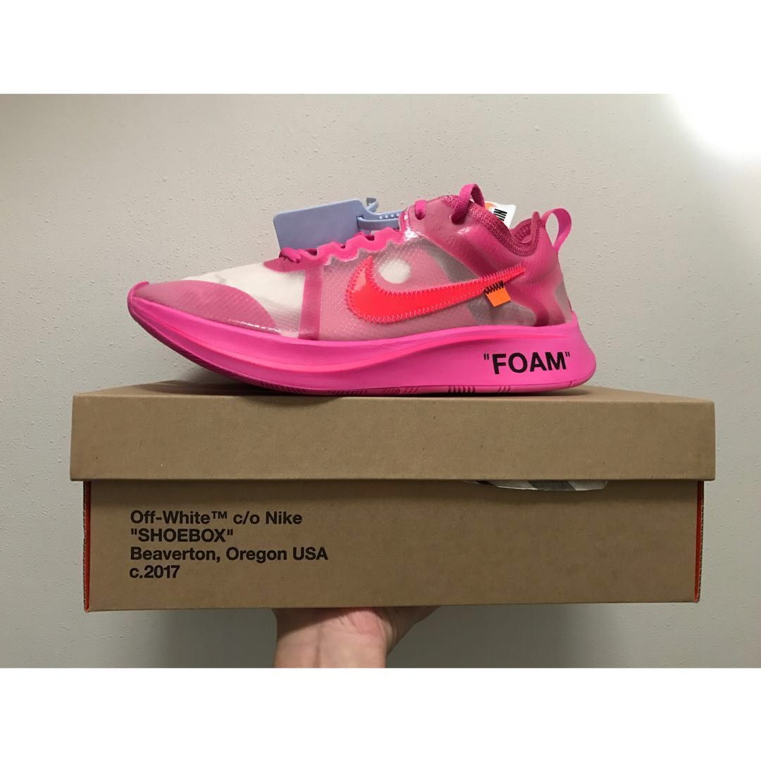 "be482498dfae5 The   10 Nike Zoom Fly SP ""Pink"" x Off White"