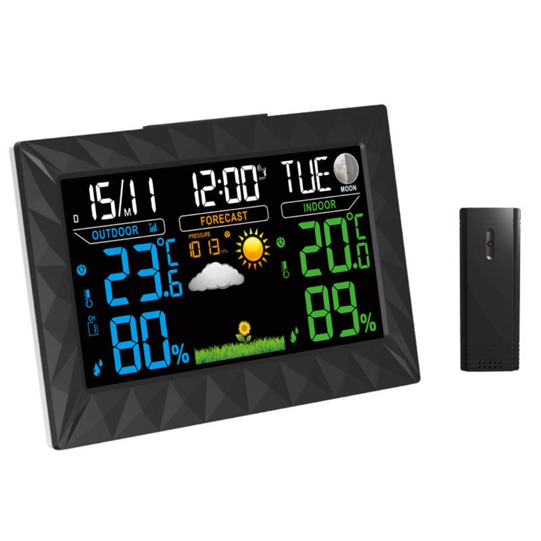 Measurement & Analysis Instruments Responsible Led Digital Temperature Instruments Weather Station Wireless Sensor Hygrometer Thermometer Multi-function Desktop Table Clock Latest Technology