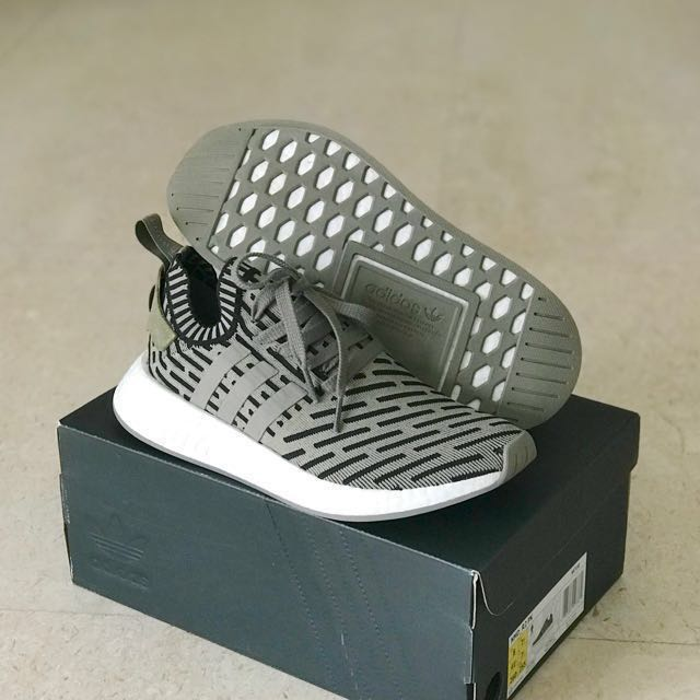 size 40 86496 a57a5 UK7.5 Adidas NMD R2 Olive Black