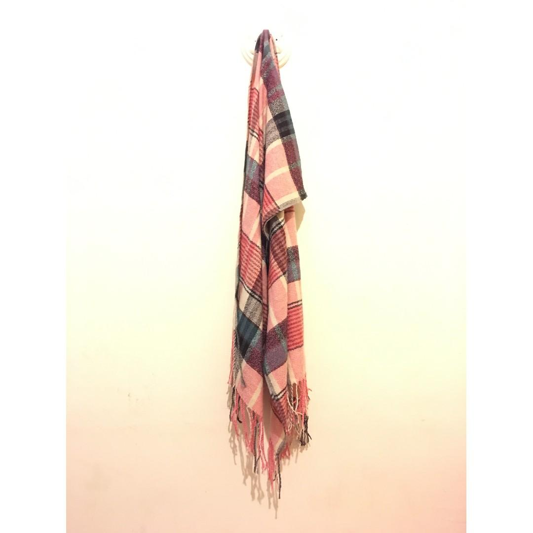 Unisex Red Checked Scarf