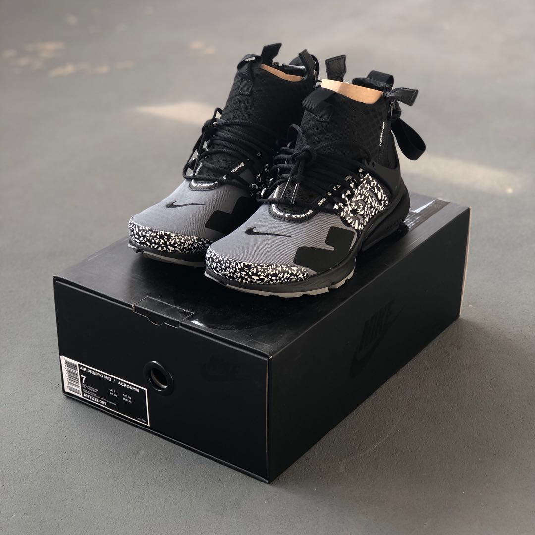 """c76af45cbe US7] Nike Acronym Air Presto Mid """"Cool Grey"""", Men's Fashion ..."""
