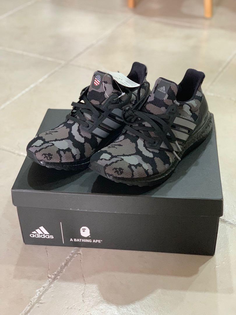 101e44d2052 Us9.5 BAPE x Adidas UltraBOOST black