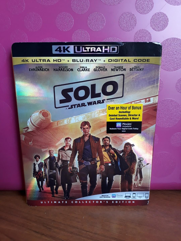 USA Blu Ray Slipcase 4K - Solo A Star Wars Story