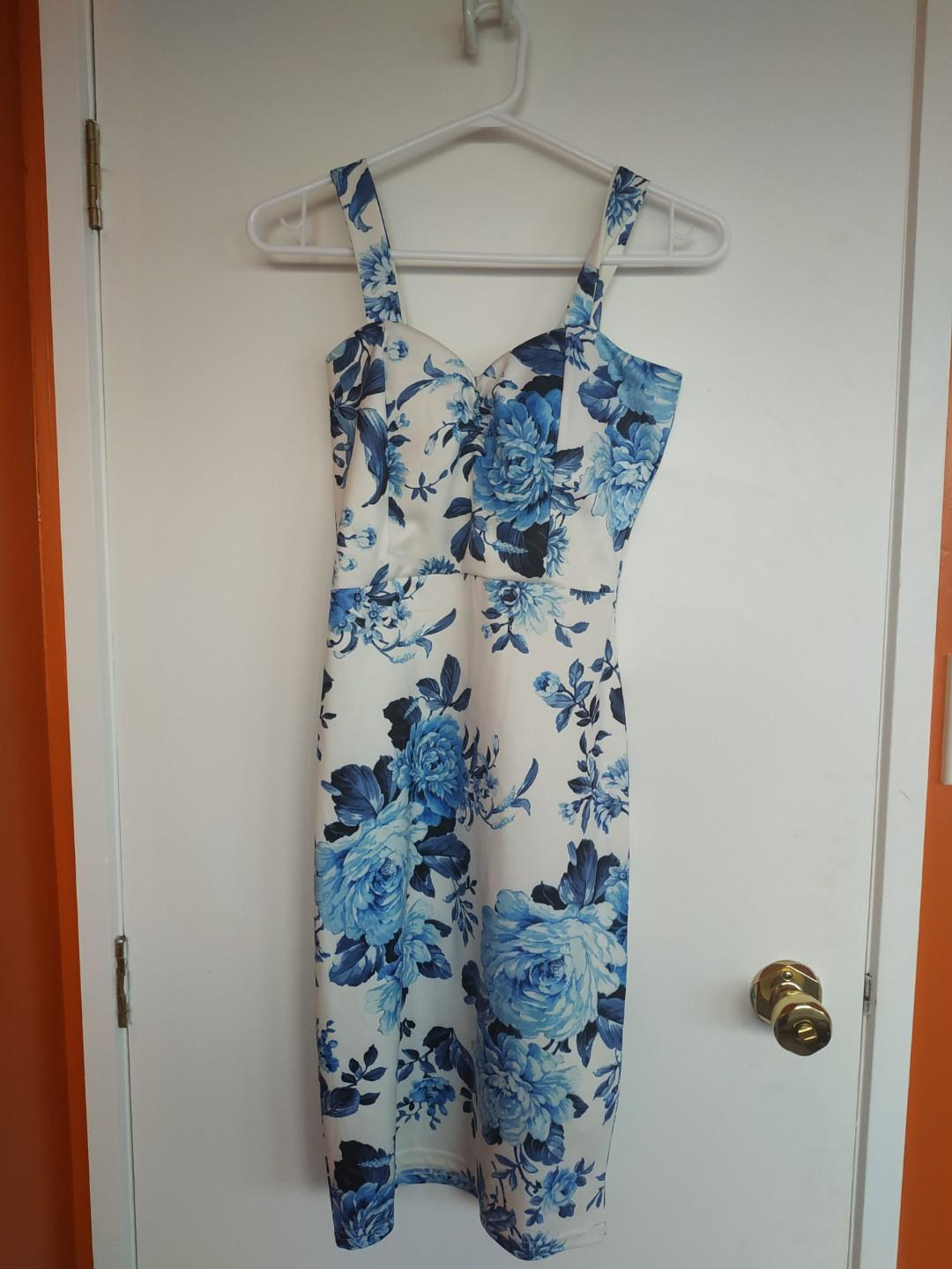 White and Blue Dress