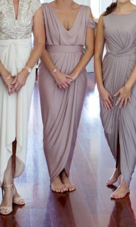 White runway Pia Gladys peret bridesmaid formal dress
