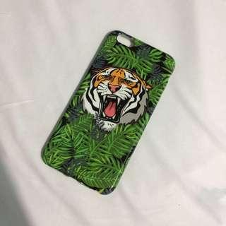 BRAND NEW summer tiger green leaf iphone 6plus 6splus case