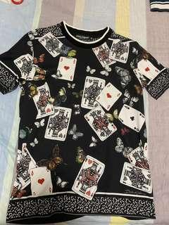💯Authentic Dolce & Gabbana Playing Cards Print T-Shirt