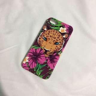 BRAND NEW pink floral leopard iphone 5 5s SE slim case