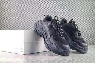 Balenciaga 17FW Tripe-S 巴黎世家全黑復古厚底老爹鞋
